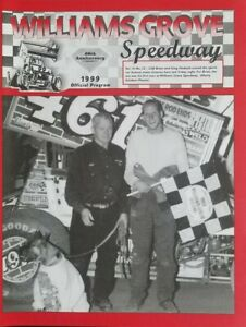 1999 Williams Grove Speedway Program Vol.16 #23 Cliff Brian Wins in Dyer 461