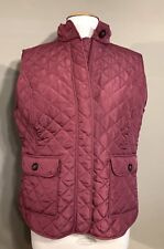 New VanHeusen Mauve Pink Sleeveless Quilted Vest Women Size Large Fleece Lined