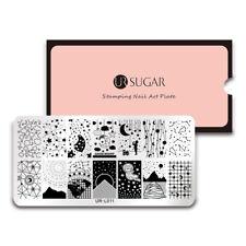 UR SUGAR Nail Art Stamping Plates Manicure Template Big Dipper Stars Moon L011