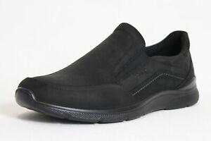 Ecco Schuhe schwarz Nubuk Leder Vario Wechselfußbett komfort Herren