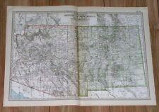 1911 Original Antique Map Of Arizona And New Mexico