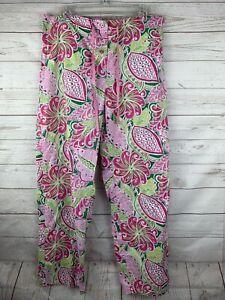 Vera Bradley Size Small Lounge Pajama Pants Pinwheel Pink Paisley Pattern