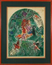 Marc Chagall (French Russian ,1887-1985 ) Original Hand Color Lithograph Print