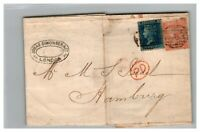 Great Britain 1865 Commercial Cover to Germany / SC# 29 & 43 (Plate 7) - Z13819