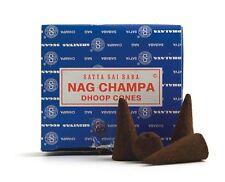 120 conos incienso Satya Sai Baba Nag Champa Dhoop cones 12 cajas con quemador