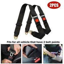 2PCS Universal 2 Point Adjustable Seat Belt Car Truck Adjustable Lap Belt Travel