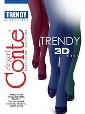 Conte TIGHTS Trendy 150 Den Heavy Winter Microfiber 3D Effect Durable Pantyhose