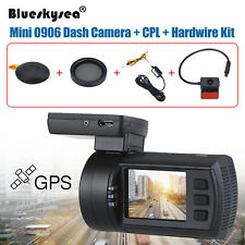 Mini 0906 HD 1080P Dual Lens Car Dash Camera GPS DVR Record + CPL+ Hardwire Kit
