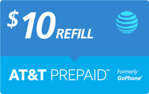$10 AT&T PREPAID REFILL DIRECT to PHONE GET IT TODAY! 🔥 IF PAY BEFORE 11 PM ET