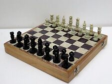 """10"""" x 10"""" Rare Marble Stone Unique India Chess Pieces and Board Chess Set"""