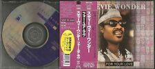 STEVIE WONDER For your Love 4TRX INSTRUMENTAL &ACAPELA JAPAN CD single USA seler