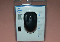 New Genuine Wireless Optical Mouse Black W Receiver for Dell WM123 PXK14 0PXK14