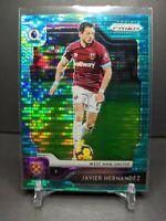 2019-20 Prizm EPL Javier Hernandez Breakaway Teal #24/35 West Ham United