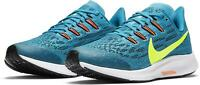 NIKE KIDS WOMENS AIR ZOOM PEGASUS 36 - UK 3.5/US 4/EUR 36 - BLUE/GREEN
