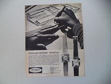 advertising Pubblicità 1963 OROLOGIO UNIVERSAL GENEVE ULTRAPIATTO IN ORO