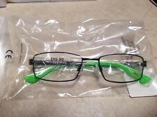 PUMA PJ0012OCOS 001 Full Metal Frame Bright Green & Black Eyeglasses 49-16 130