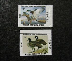 nystamps US Varginia Duck Stamp # 1,2 Mint OG NH $25   M14x618