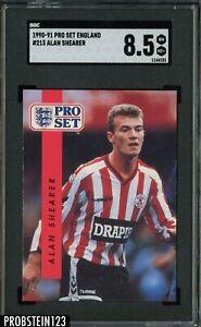 1990-91 Pro Set England Soccer #213 Alan Shearer SGC 8.5 NM-MT+