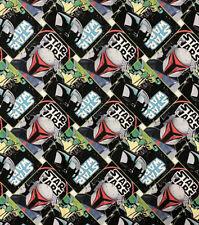"NEW PRINT IN STOCK NOW! Star Wars Mandalorian Cotton Fabric FAT QUARTER 18""x21"