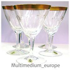 5 Stück Weingläser Goldrand Stil Antik Kristall Glas aus Zwiesel geschliffen