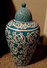 Z Gallerie Large Ceramic Vase With Cover