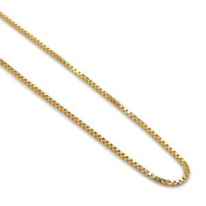 Collana Maglia Veneziana in Argento 925 Placcato Oro Lunghezza cm 50