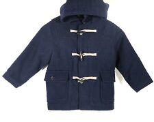 Baby GAP Boys Navy Blue Hooded Wool Duffle Coat size 4