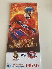 unused hockey tickets Montreal Canadiens 2017 season PAUL BYRON