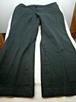 Lauren Ralph Lauren Women Size 14 Black Adelle Straight Pants Mid Rise Stretch