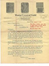 1913 Advertising Flier for Watt's crystal Gold for Dentist's w/ Images