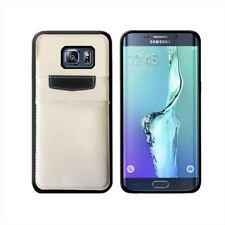 Custodia color case portadocumenti per Samsung Galaxy S6 edge+, Colore: Bianco