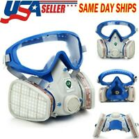 Full Face Gas Mask Painting Spraying Respirator Facepiece reusable respirator US