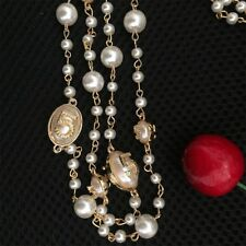 Designer Style No 5 Long Pearl Necklace