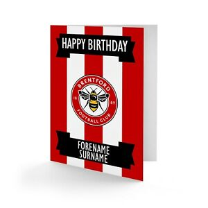Personalised Brentford FC Birthday Card Football Supporter Gift The Bees Fan