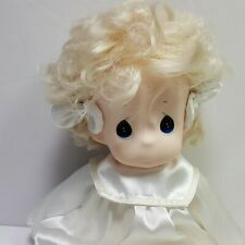 """Precious Moments Soft Bodied White Dress Baby Doll 17"""" Tall"""