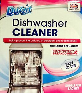 Duzzit Dishwasher Cleaner Rinses Cleaner Clean Single Use Kitchen Clean Descaler