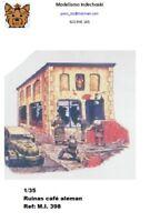 cafe-bar alemán en ruinas 1:35 incluye vidrieras y puerta resina building house