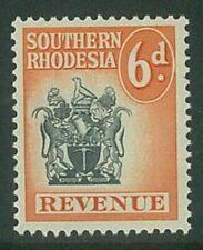 SOUTHERN RHODESIA - 1954 6d Arms Revenue (UHM) (EM774)