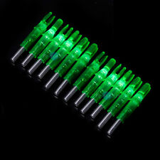 12Pcs Shooting Archery Lighted Nock Compound Bow Led Green Arrow Nock
