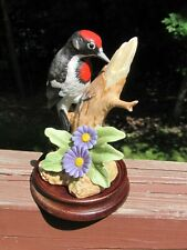 Downey Woodpecker Bird Figurine Andrea by Sadek #9610