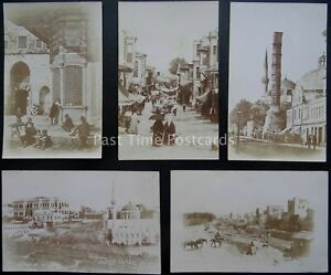 Turkey RARE x 5 CONSTANTINOPLE Social History - early RP Postcard by G Berggren