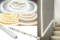 Recessed In-wall LED Strip light CRI 95 16ft + Aluminum Channel + Power Supply