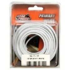 Coleman Cable 55667933 16 Gauge Automotive Copper Wire, White, 24'