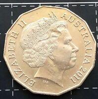 2011 AUSTRALIAN 50 CENT COIN