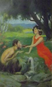 Plakat QUELLE Original-Jugendstil um 1905                                  /5298