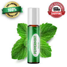 Peppermint Essential Oil Roll On Diluted With Coconut Oil Ready To Use! 10 ml