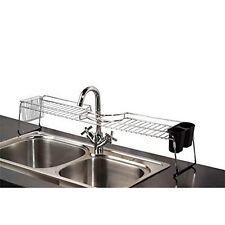 Home Basics SS41025 Chrome Over The Sink Sturdy Sponge Shelf Organizer Rack New