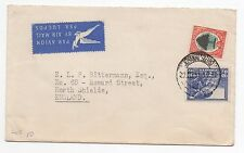 1951 SOUTH AFRICA Air Mail Cover JOHANNESBURG To NORTH SHIELDS GB SG47 SG117