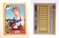 Tom Hume Signed 1987 Topps #719 Card Philadelphia Phillies Auto Autograph