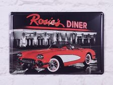 Rosie's Diner Antique Metal Tin Signs Bar Poster Retro Home Room Art Wall Decor